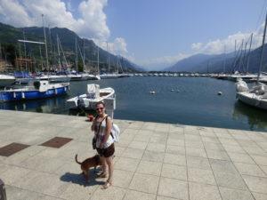 Lago d'iseo con il cane - Lovere