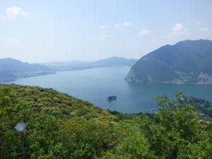 Panorama dall'alto di Monte Isola