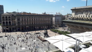 Vista dall'highline della Galleria su Piazza Duomo