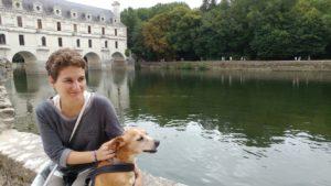 valle della Loira con il cane