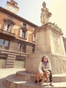 Fontana del Crostolo - reggio emilia con il cane