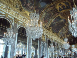 Visitare Versailles - la sala degli specchi