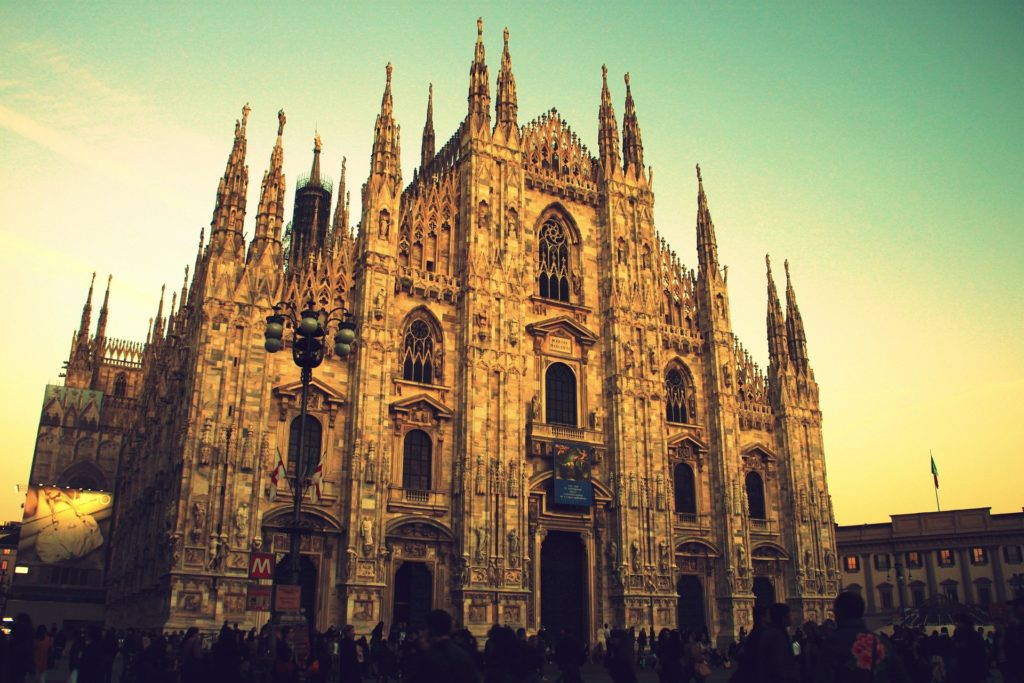 Duomo Milano al tramonto