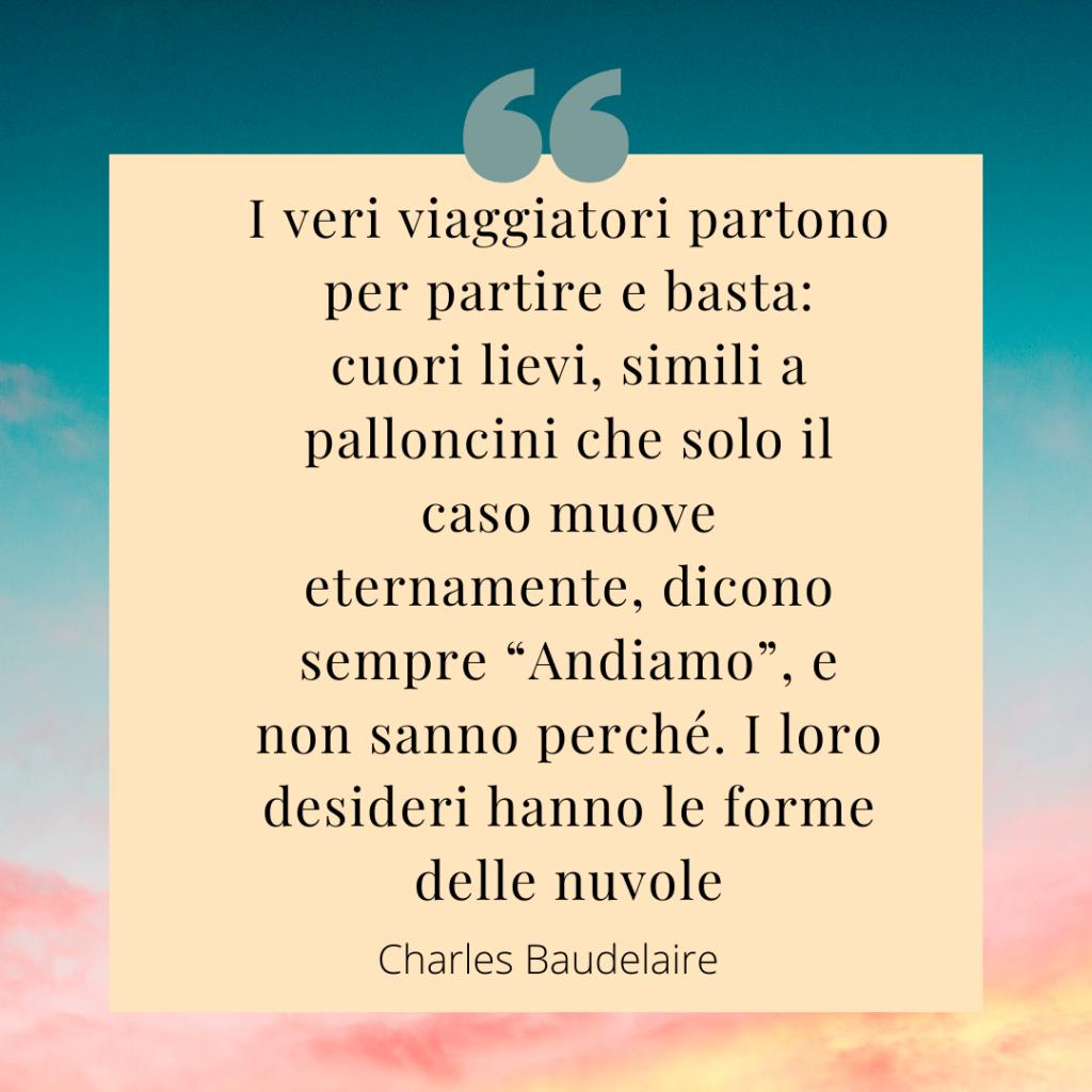 citazione di viaggio di Charles Baudelaire