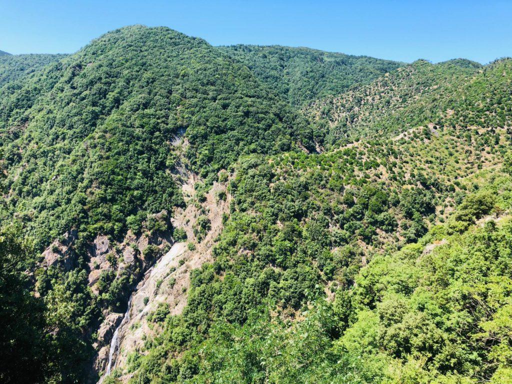 Panorama dalle cascate del marmarico