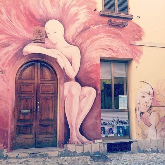 L'angelo di Dozza - Murales più famoso di Dozza