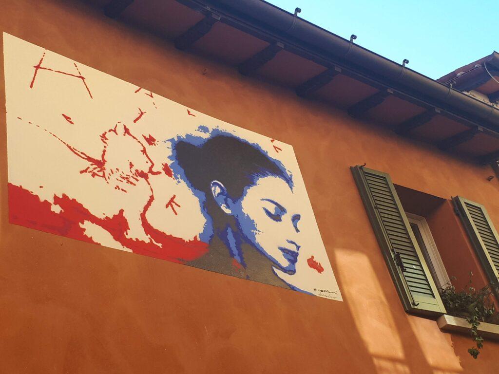 Murales donna a Dozza
