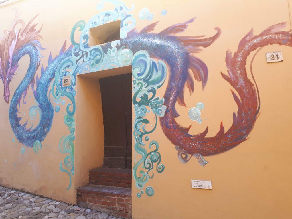 Il respiro del drago - murales dozza